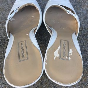 Nordstrom Shoes - Norstrom White leather slide pointed toe shoe